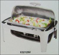 Rectangular Roll Top Chafing Dish Set