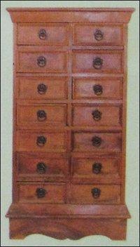 Fourteen Drawer Wooden Cabinet