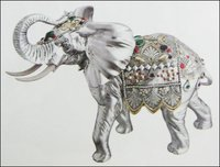 Decorative Elephant Idol