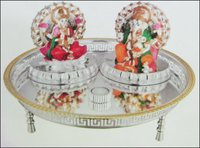 Decorative Laxmi And Ganesh Idol