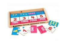 Number Picture Matching Puzzle Strips