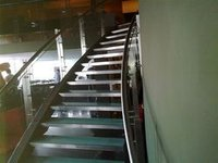 Modern Stainless Steel Glass Staircases
