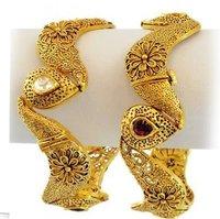 22K Gold Antique Bangles
