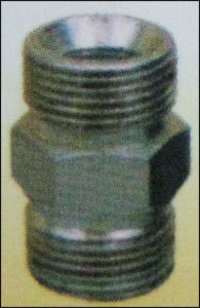 Steel Hydraulic Hex Nipple Galvanised