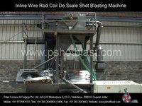 Inline Wire Rod Coil De Scale Shot Blasting Machine