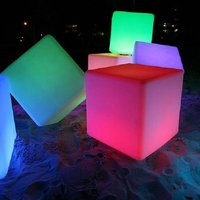 Led Cube Light Seat For Bar Decoration