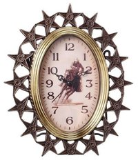 Clock W/Stars And Cowboy