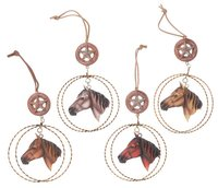 Horse And Lariat Ornament