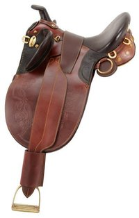 Stock Poley Saddle w/Horn Wide Tree