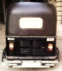 Black Piaggio Rickshaw Hoods