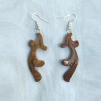 Brown Coconut Shell Earring