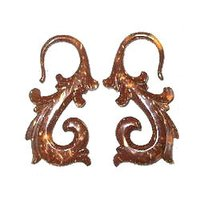 Fish Hook Coconut Shell Earring