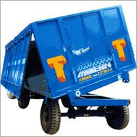 Four Wheel Tipping Tractor Trailer