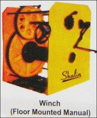 Floor Mounted Manual Winch