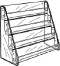 4 Tier Display Rack