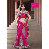 Magenta Bollywood Saree