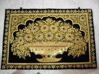 Zari Flower Wall Hanging