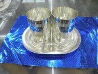 German Silver Glass Gift Set