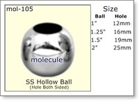 Stainless Steel Hollow Ball (Two Sided)