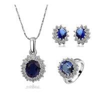 Platinum Retro Design Necklace Ring Earrings 18kgp