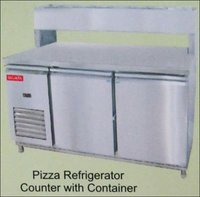 Pizza Refrigerator Counter With Container