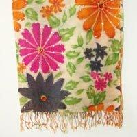 Cashmere Wool Embroideredd Shawl