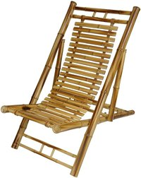 Bamboo Rustic Folding Chair Recliner