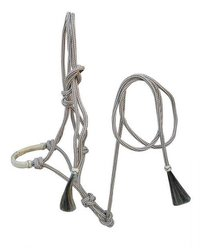 Rope Halter With Raw Hide