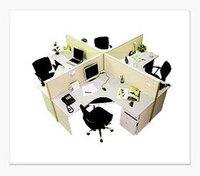 L Shape Four Seater Modular Workstation