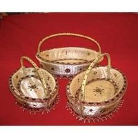 Oval Handle Basket Set Of 3 Small
