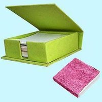 Designer Handmade Paper Slip Pad Box