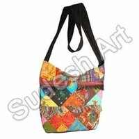 Black Strapped Ethnic Handcrafted Bag