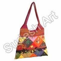 Coloured Ethnic Handcrafted Bag