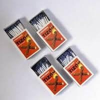 Plain Wax Match Boxes
