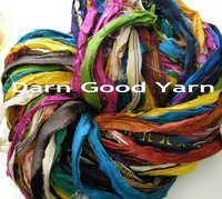 Reclaimed Sari Silk Ribbon