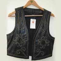 Ladies Fancy Leather Vest