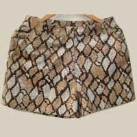 Ladies Designer Leather Shorts