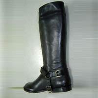 Black Color Ladies Leather Boot