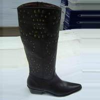 Ladies Black Color Leather Boot