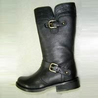 Women Black Color Leather Boot