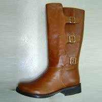 Women Brown Color Leather Boot