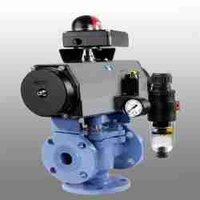 Three Way Actuated Plug Valve