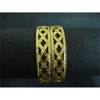 Ladies Golden Brass Bangles