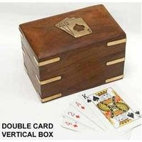 Wooden Double Card Box