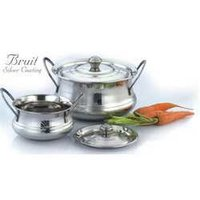 Stainless Steel Silver Cooking Pots