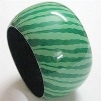 Green Wooden Bangles