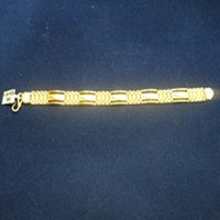 Designer Gold Link Bracelet