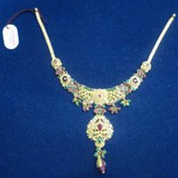 Enamel Gold Necklaces