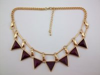 Facted Epoxy Resin Triangle Necklace (Kzn-5348)