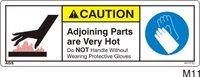 Burn Hazard Safety Decals